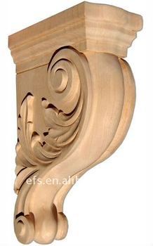 wood decorative corbel with leaf(efs-cg-27) - buy decorative