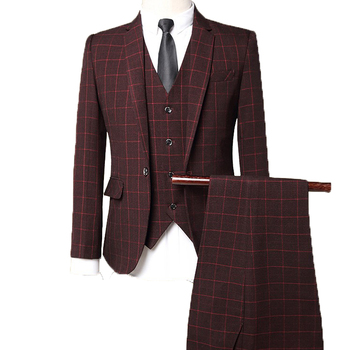 Classic three piece suits design wedding business hotel office men suits
