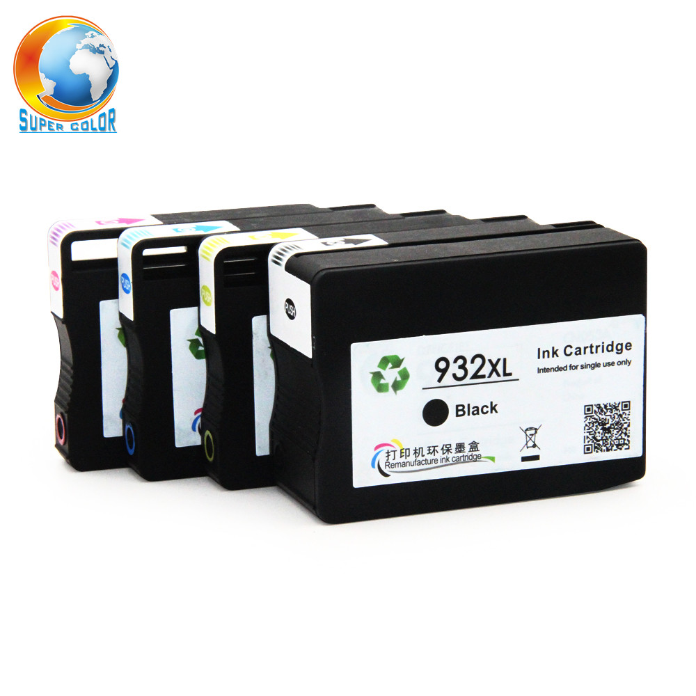 Supercolor For HP 932 933 100% New Remanufactured Ink Cartridge For HP Officejet 6100 e Printer - H611a 6600 e-AIO Printer
