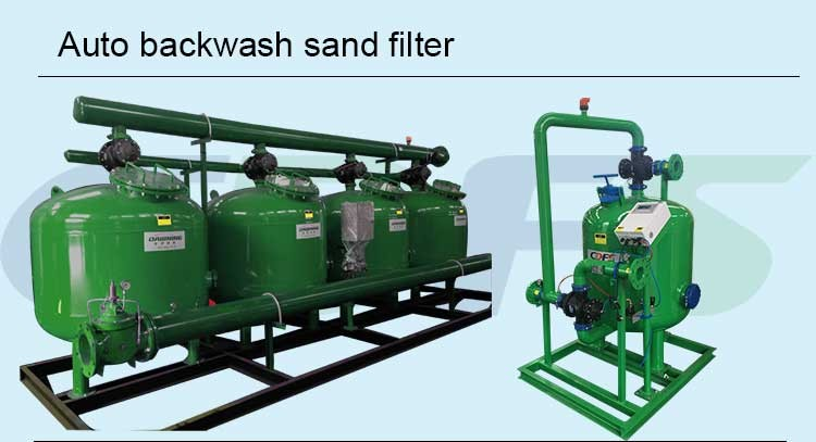 Continously automatic backwash sand filter for sprinkler