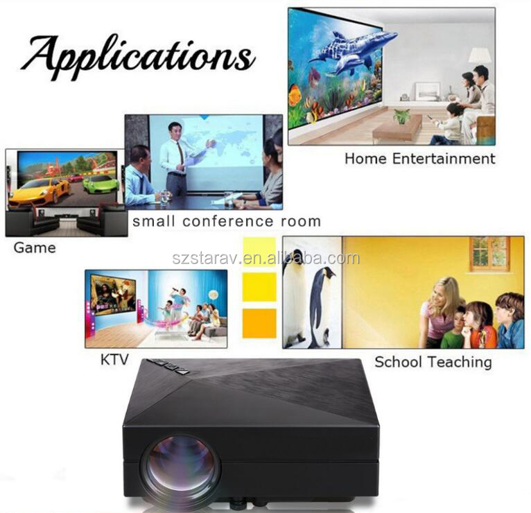 GM 60 1080P LED Full HD Pico Smartphone Mini Projector / Projector with Wifi