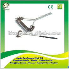 plastic and metal handle wire barbeque grill brush
