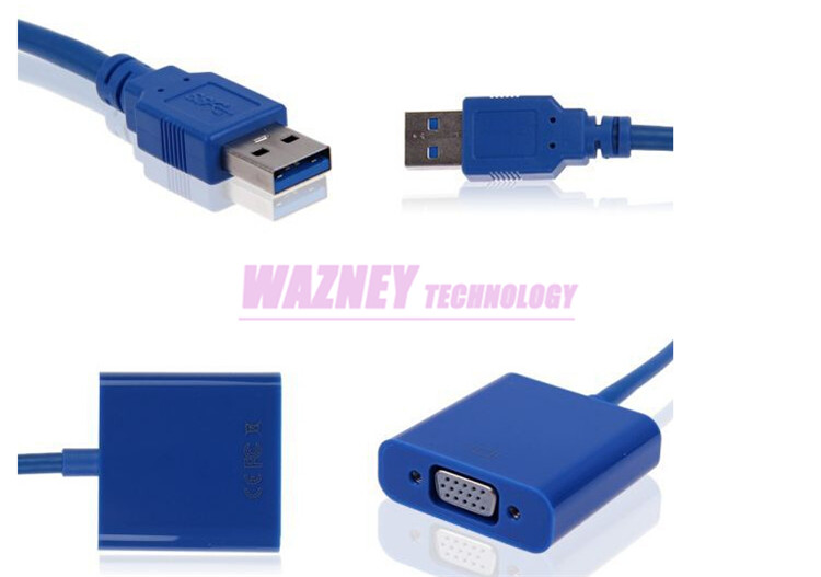 USB3.0 USB 3.0 to VGA Multi display Adapter Converter External Video Graphic Card for WIN7 WIN8 Vista