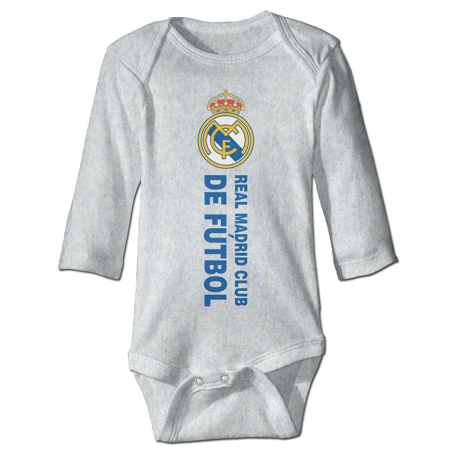 bae07d921 PGiG Baby's Real Madrid CF Hanging Bodysuit Romper Playsuit Outfits Clothes  Climbing Clothes Long Sleeve