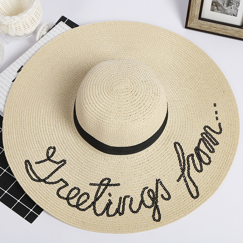 198086acda0 alibaba best custom 3d embroider wide brim design sun summer paper custom  design straw hat