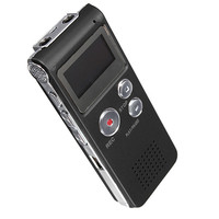 Rechargeable Digital hd Audio Voice Recorder Dictaphone with LCD Screen, Built in 4GB,8GB,16GB MP3 Player spy voice recorder