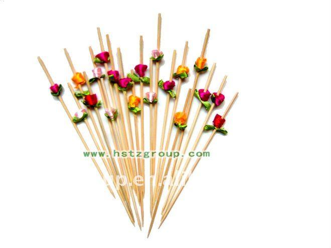 Beautiful Bamboo Flower Skewer/stick