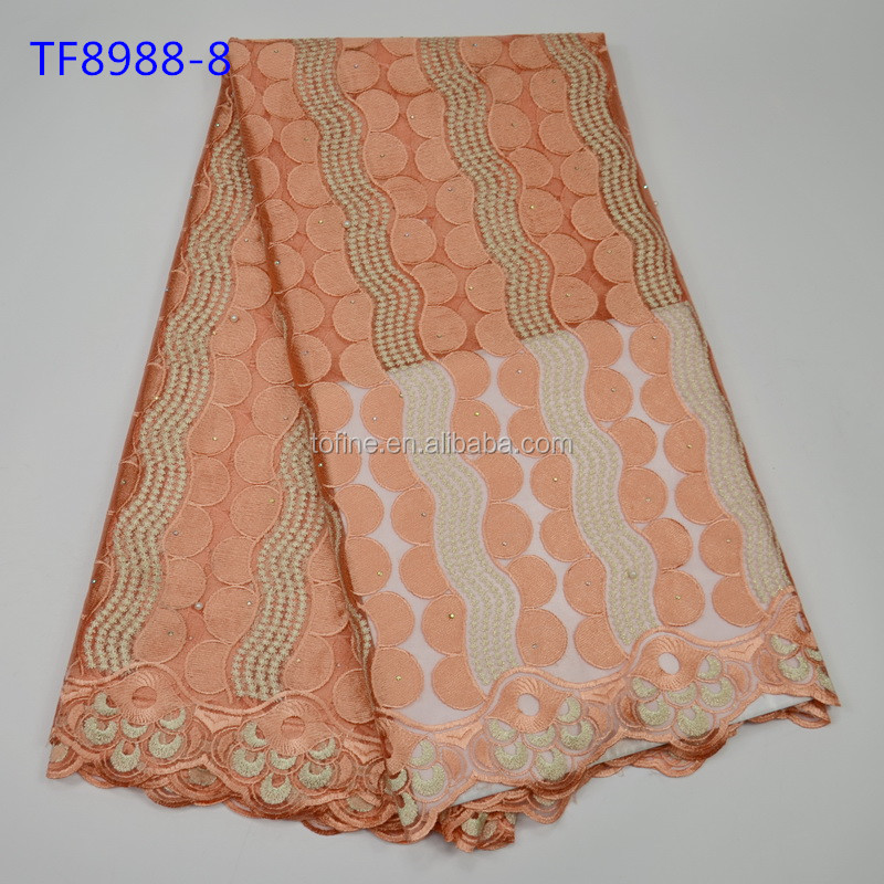 Thanksgiving Day dubai french lace embroidery fabric in cheap price