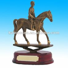 Exquisite equestrian Scene resin sports trophy