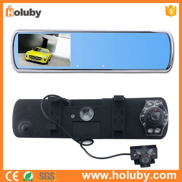 DV700 Dual Lens Car DVR Camera Rearview Mirror Camera with Super Night Vision HD 720P G-Sensor Video Recorder Dash Camera