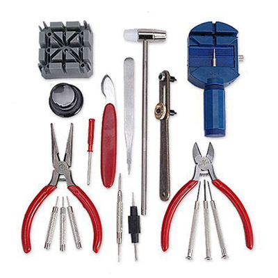 cheap 18 in 1 Watch Repair Tool Set Screwdrivers Case Opener
