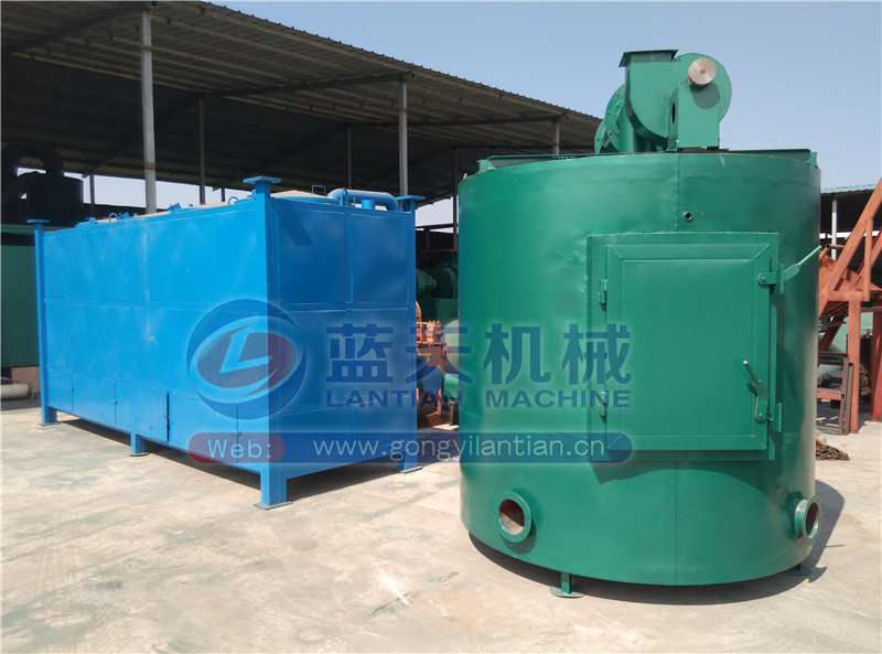 High temperature continuous wood sawdust rice husk Olive pieces carbonization furnace