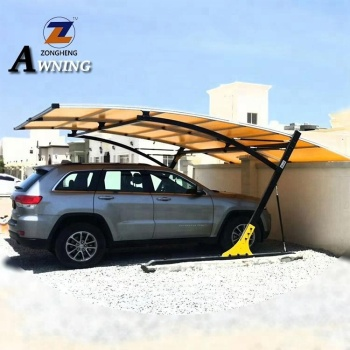 Garage Shelter Aluminum Polycarbonate Single Carport Awning