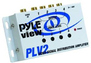 Pyle - Video Signal Distribution Amplifier - White, 1 Into 4