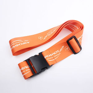 High quality custom made cheap beautiful promotional luggage strap for business trip