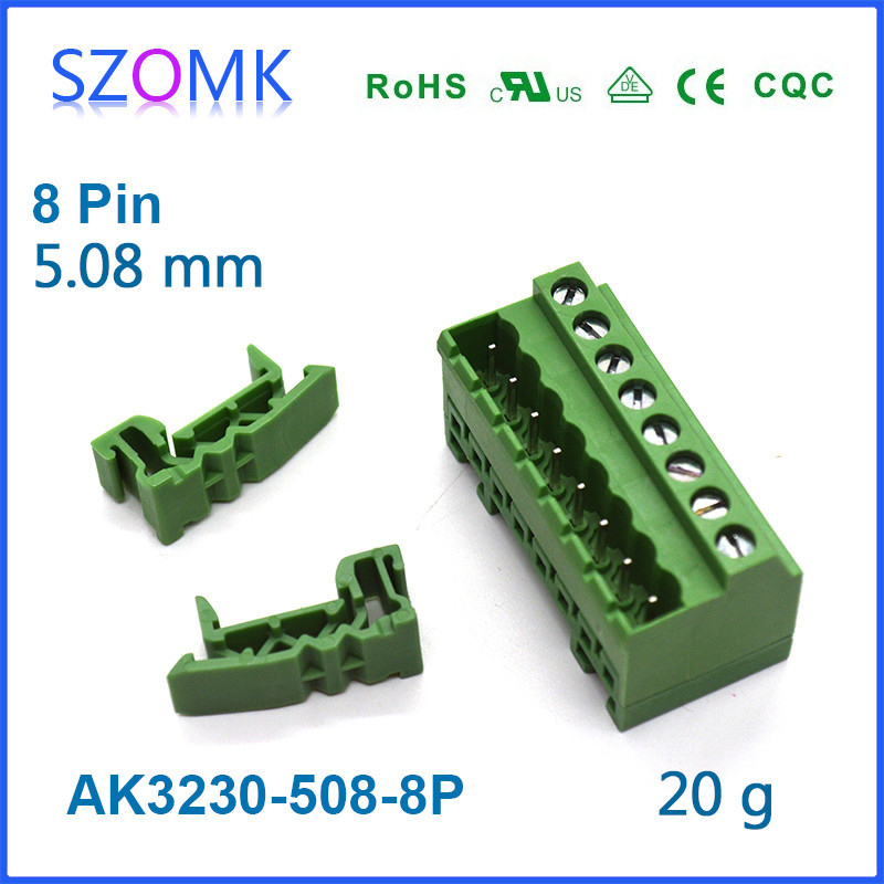 8 pins Phoenix Male Terminal Block and Electronics PCB Wire Connector for Industry and PCB case