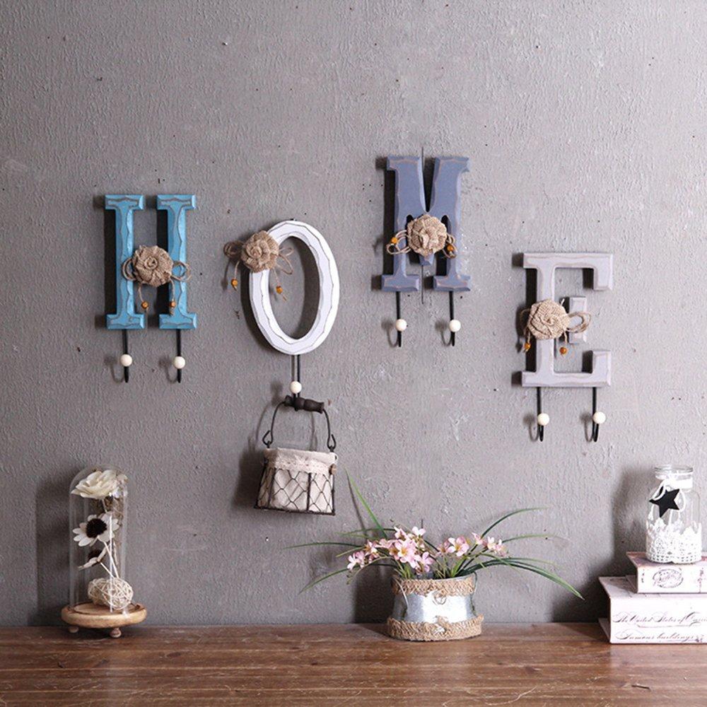 Get Quotations Rustic Wooden Coat Hooks Rack Wall Hanging Key Hook Holder Decorative Hat Handbag Scarf Towel