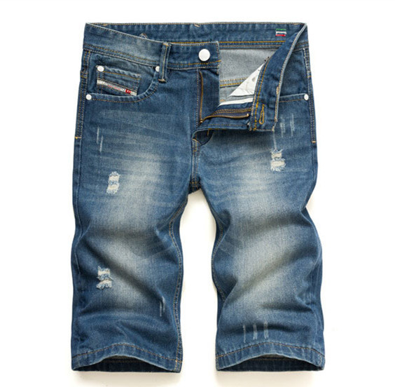 Famous AD Brand Men Shorts Jeans,Zipper Fly Disel Jeans shorts 100% Cotton Denim Printed Jeans For Men Summer Style 9007-1A