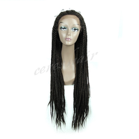 ceres hair Lace Front Synthetic Wigs 24'' Black Women Long Wig Havana Mambo Twisted Crochet Wigs Heat Resistant Synthetic hair