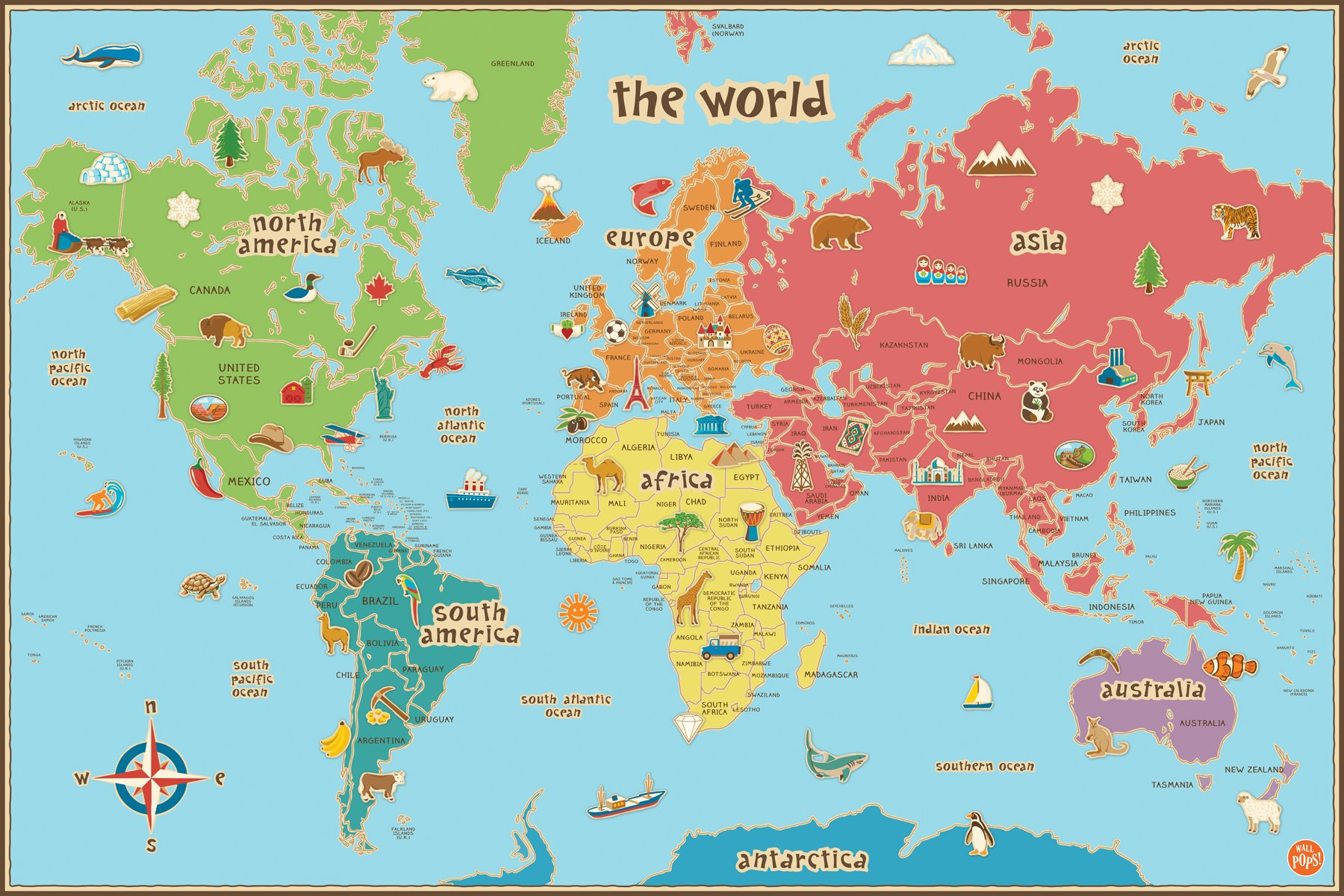 Cheap uae world map find uae world map deals on line at alibaba wall pops wpe0624 kids world dry erase map decal wall decals publicscrutiny Choice Image
