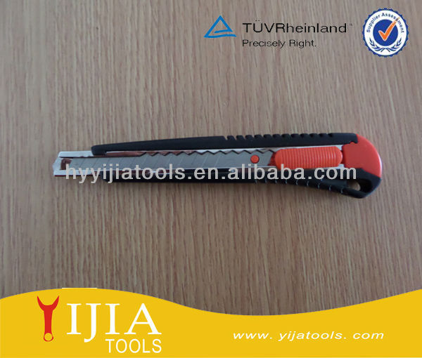 self locking blue Plastic case cutter knife, utility knife