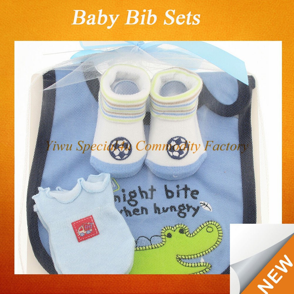 Baby bib newborn matching sets socks and gloves baby bib custom FYBB-014