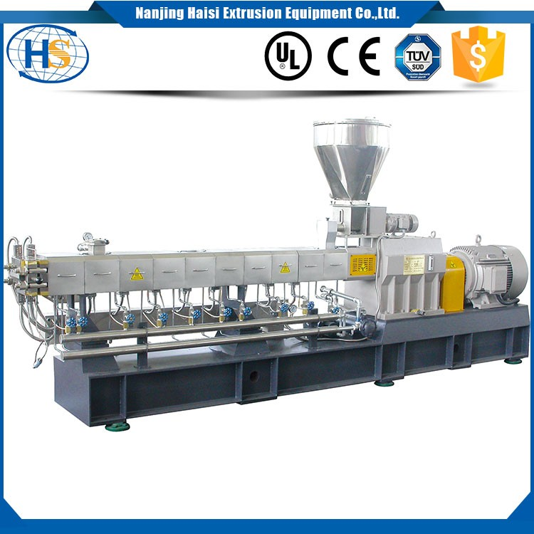 TSE-65 PC+ABS plastic alloy blending twin screw extruder pellet making machine