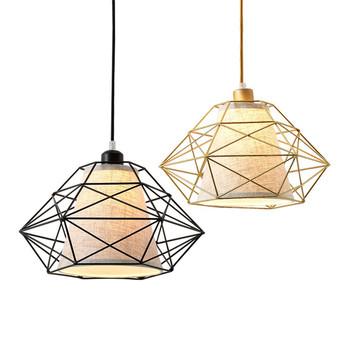 Italian Design Luxury Gold Finish Pendant Lighting Factory Iron Ing E27 Bulb Cage Hanging Lamp For Bedroom Bar Hotel Lobby