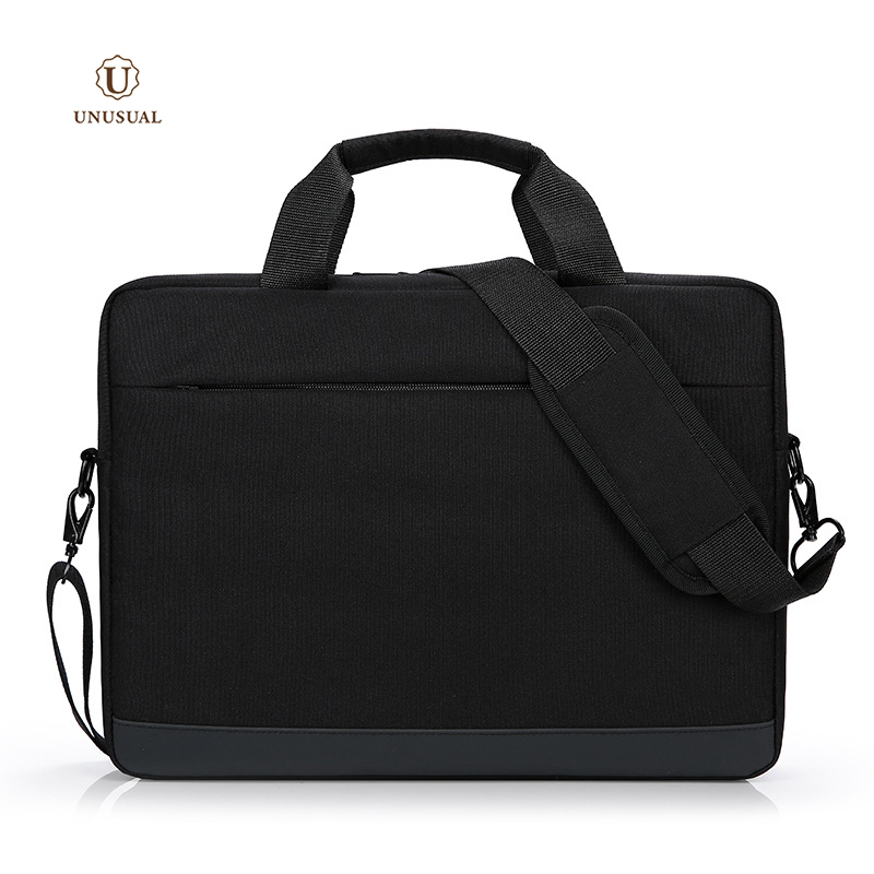 Wholesale business 16 inch polyester grey laptops messenger bag