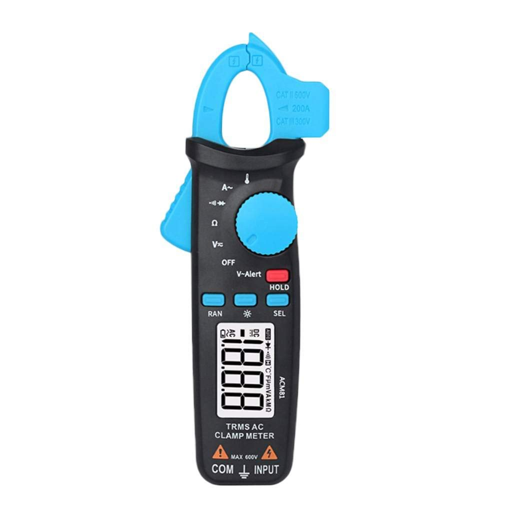 Arichtop AC Clamp Meter Auto-ranging Digital Multimeter 2000 Counts Voltage Current Multimeter with Back Clip