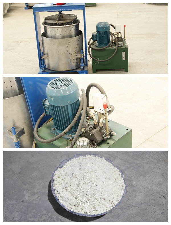 Hydraulic press extraction purification production