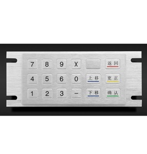 18 Keys IP65 Ik07 Waterproof Metal Keypad (KMY3502C-18)