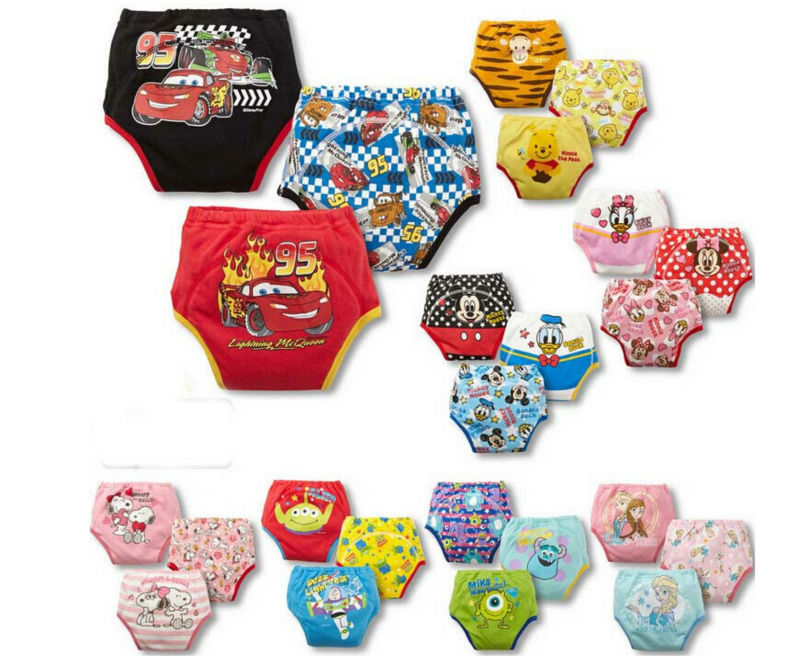 9pcs lot Waterproof baby potty training pants reusable underwear cloth diaper toddler panties free shipping