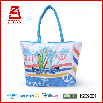 China Branded Bags Supplier Silicon Beach Bag With Rope Handle For Las