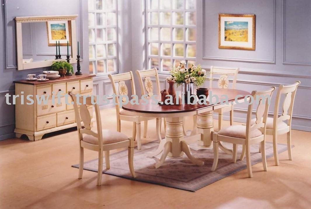 Extendable dining table silla de comedor de madera for Juego de comedor de cocina