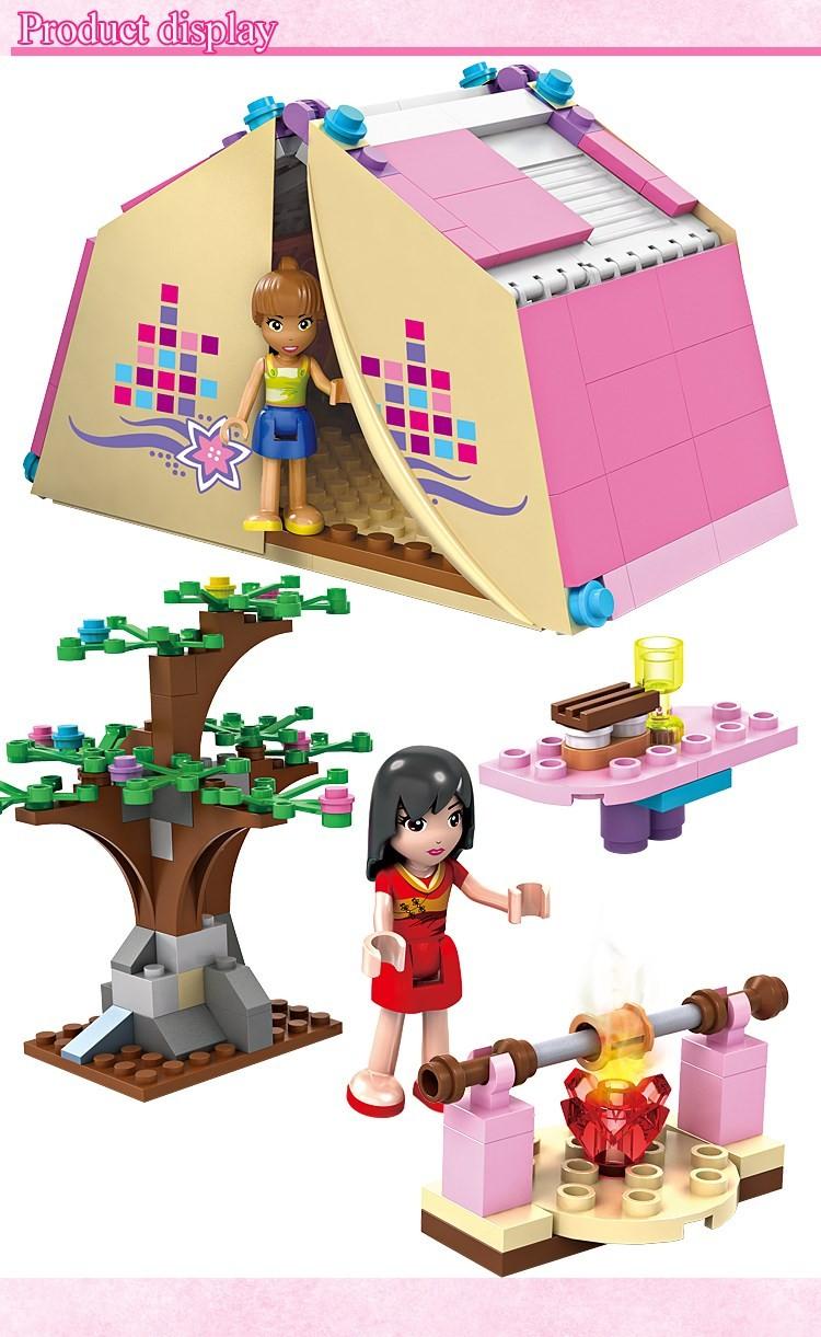 UKLego Friends Girl Campsite Building Blocks Toys For Children.