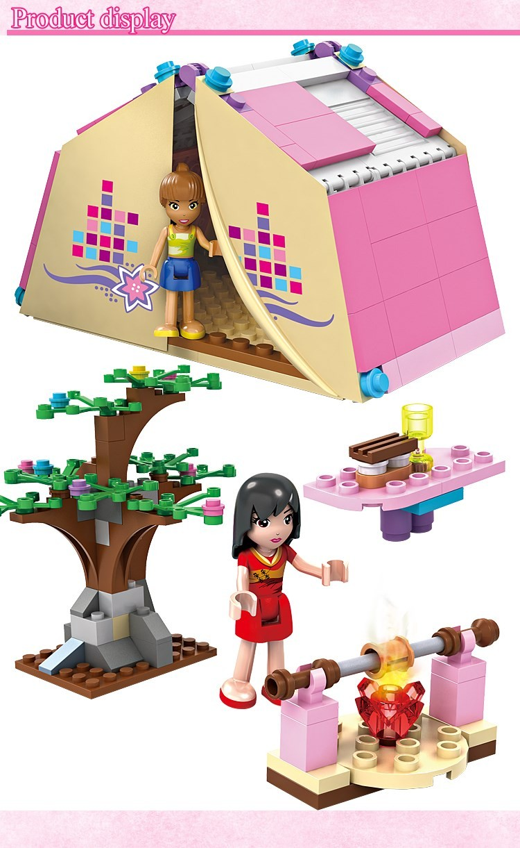 UKLego Friends Girl Campsite Building Blocks Toys For Children.