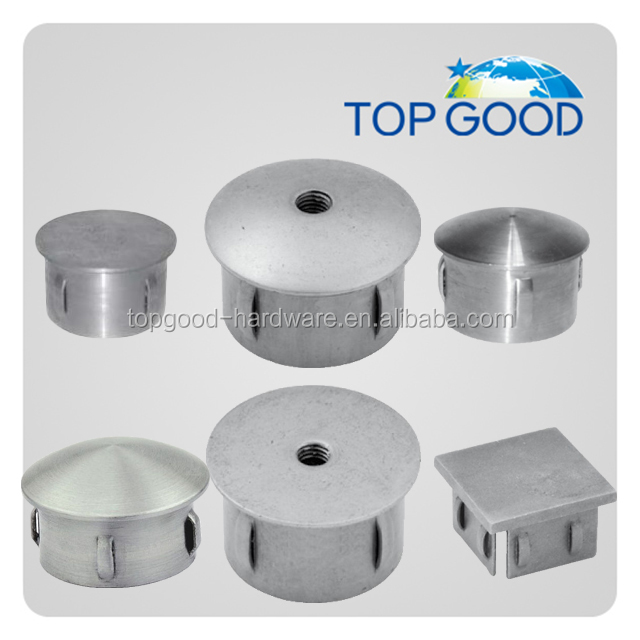 Stainless steel <strong>hardware</strong> accessories end cap&ball made in China for 42.4mm tube wall thickness 2-2.6mm