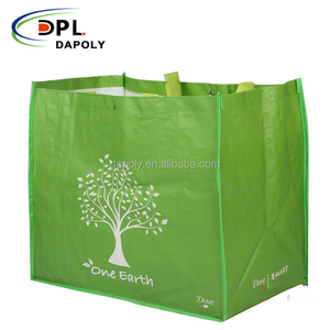 BOPP Laminated Grocery Handle Foldable PP Woven Shopping Bag