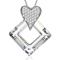 S139-30353 Xuping fashion jewelry, custom copper heart white gold pendant necklace, crystals from Swarovski fashion jewellery