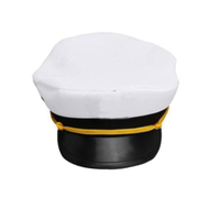 Promotional White Custom Captain Sailor Hat,Blank Captain Hat