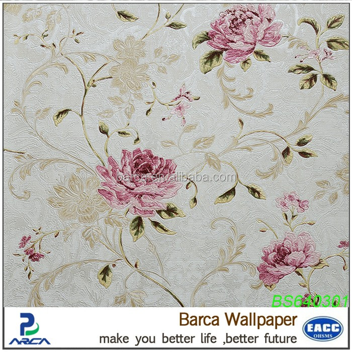 Peony design wallpaper the flower of China wallpaper hot sale