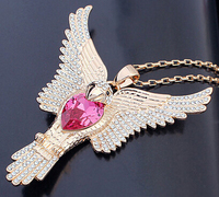 11234 eagle gold pendant crystal from Swarovski necklace