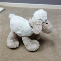 Custom long plush big feet sheep kids playmate standing sheep