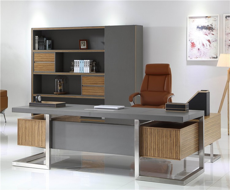 luxury office desk. Luxury Office Table Executive Ceo Wooden Desk W-07 Stainless Steel Legs Computer
