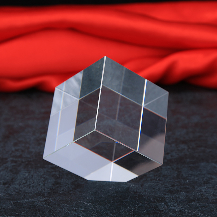 Wholesale Blank Crystal 3d laser engraved crystal cube,K9 Optical Glass Blank Crystal Cube