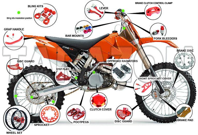 Cnc Anodized Parts Footpegs Foot Pegs Ktm Dirt Bikes Mx Motocross