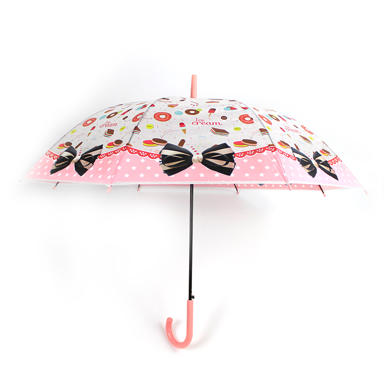 2020 hot sale Reliable supplier heat-transfer bowknot and sweet printing cute umbrella for kids