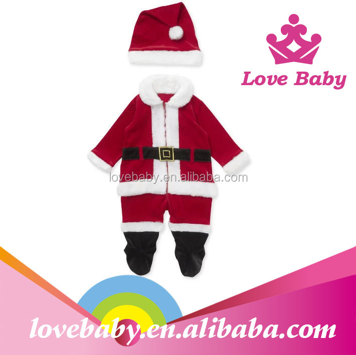 LBE4091332 Children santa suit outfits baby Xmas clothes