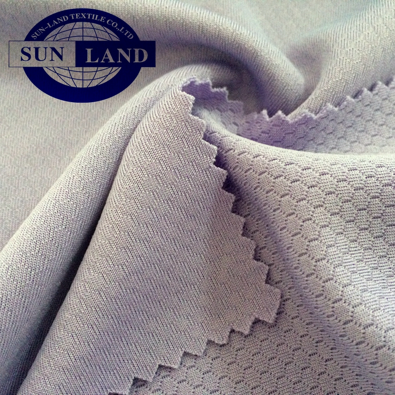 100% polyester anti-UV dry fit mini waffle mesh fabric